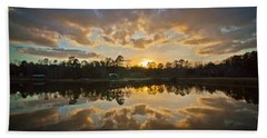 Sunset Reflections Beach Towel by Linda Unger