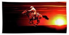 Sunset Rider Beach Towel