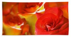 Sunset Rose Beach Towel by Gabriella Weninger - David