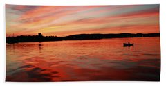 Sunset Row Beach Towel