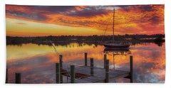Sunset Sail Beach Towel