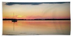 Sunset Sail On Calm Waters Beach Sheet