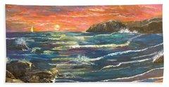 Sunset Sails Beach Sheet