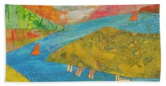 Sunset Sails 1 Beach Towel