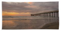Sunset Scripps Beach Pier La Jolla San Diego Ca Image 4  Beach Towel
