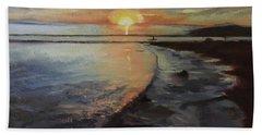 Sunset Sea Beach Towel