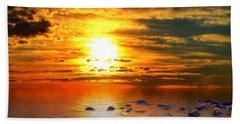 Sunset Shoreline Beach Towel