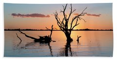 Beach Towel featuring the photograph Sunset Silhouette by Ray Warren