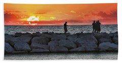 Sunset Silhoutte Beach Towel