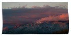 Sunset Storm On The Sangre De Cristos Beach Sheet by Jason Coward