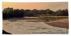 Sunset Stroll In The Marshes Beach Towel