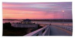 Sunset Stroll On The Bridge Beach Sheet