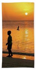 Sunset Stroll Beach Towel