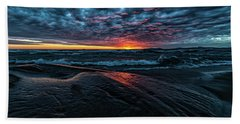 Beach Towel featuring the photograph Sunset Surf by Doug Gibbons