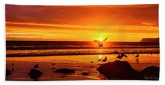 Sunset Surprise Pano Beach Towel