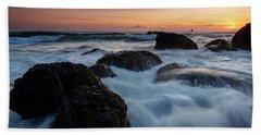 Sunset Tidal Surge Beach Towel