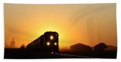 Sunset Express Beach Towel