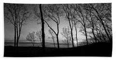Sunset Trees Beach Towel