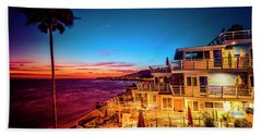 Sunset Twilight At The Laguna Riviera Beach Towel