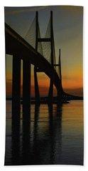 Sunset Under The Bridge Beach Towel