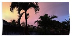 Sunset Beach Towel by Val Oconnor