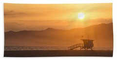 Sunset Venice Beach  Beach Towel