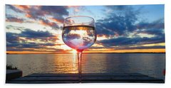 June Sunset On The River Beach Towel