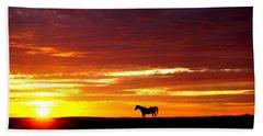 Sunset Watcher Beach Sheet