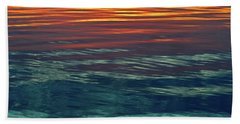 Sunset Water  Beach Towel