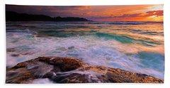 Sunset Wave Curl Beach Towel