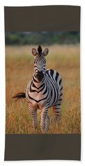 Sunset Zebra Beach Towel by Bruce W Krucke