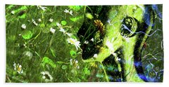 Beach Towel featuring the photograph Sunshine And Daisies by LemonArt Photography