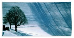 Beach Towel featuring the photograph Sunshine And Shadows - Winterwonderland by Susanne Van Hulst