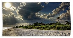 Beach Towel featuring the photograph Sunshine On Sanibel Island by Chrystal Mimbs