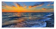 Beach Sheet featuring the photograph Sunshine Skies by Scott Mahon