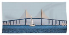 Sunshine Skyway Bridge #2 Beach Towel