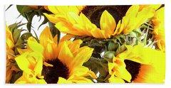 Sunshine Sunflowers Beach Towel