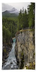 Sunwapta Falls Canyon Beach Towel