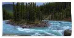 Sunwapta Falls Jasper National Park Alberta Canada Beach Towel
