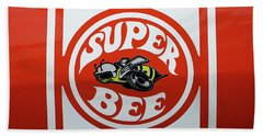 Beach Towel featuring the photograph Super Bee Emblem by Mike McGlothlen