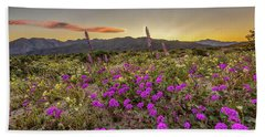 Super Bloom Sunset Beach Towel by Peter Tellone