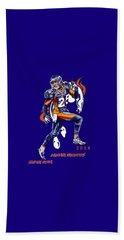 Beach Towel featuring the drawing Super Bowl 2016  by Andrzej Szczerski