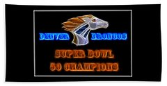 Beach Towel featuring the photograph Super Bowl 50 Champions by Shane Bechler