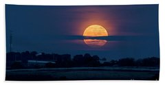 Beach Towel featuring the photograph Super Moon by Arik Baltinester