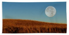 Super Moon Over The Prairie Beach Towel