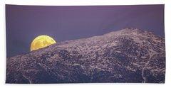 Super Moon Rising Beach Towel