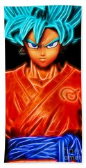 Super Saiyan God Goku Beach Towel