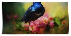 Superb Starling Beach Towel by Suzanne Handel