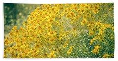Superbloom Golden Yellow Beach Towel by Amyn Nasser