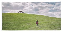 Superman And The Big Hill Beach Towel